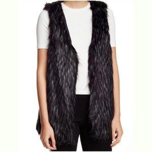 Kenzie Black/Combo Faux Fur Vest